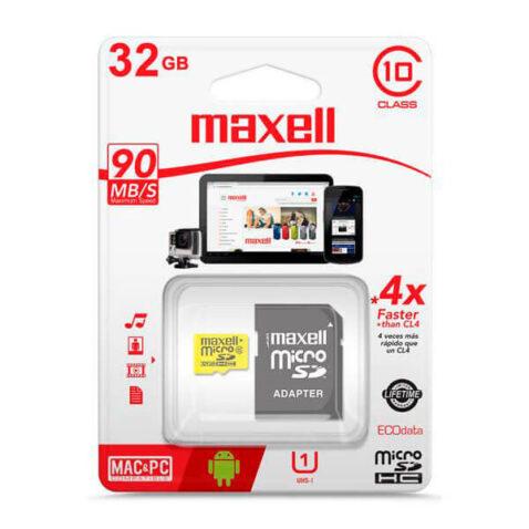tarjeta micro sd maxell 32gb clase 10