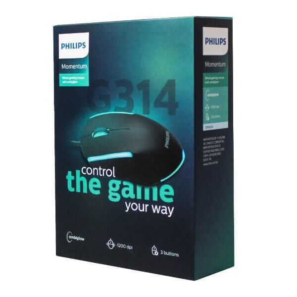 Ratón para juegos con cable SPK9314 en su caja