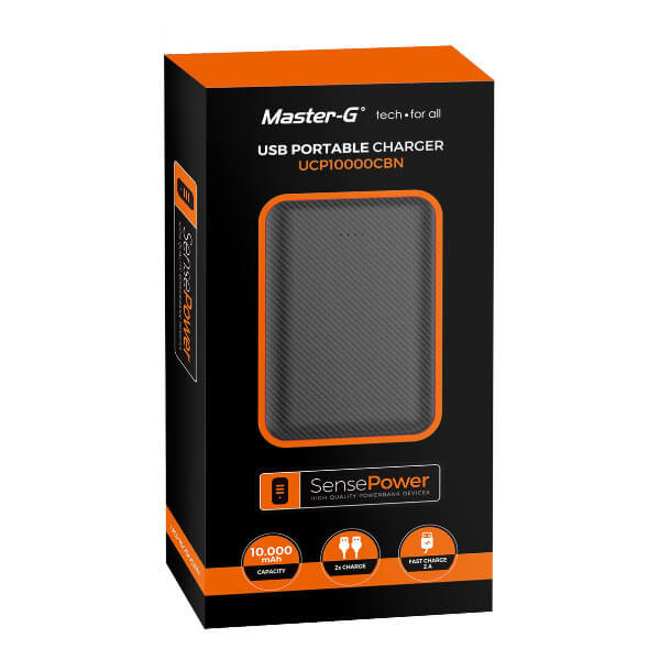 bateria externa 10.000mah negro
