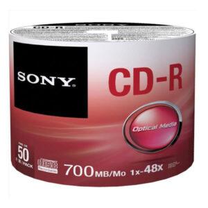 paquete de cd marca sony de 50 unidades de 700mb